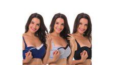 Curve Muse Women's Nursing Plus Size Bra