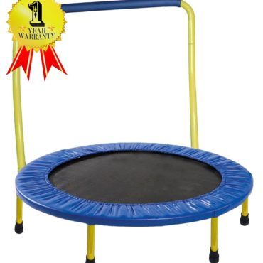 JumJoe Kids Trampoline – 36in. with Handle Bar, Safety, Portable