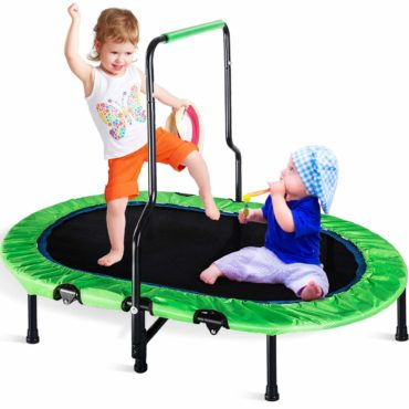 Merax Kids Trampoline with Handrail and Safety Cover