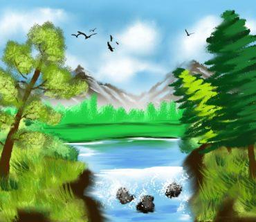 Landscape artwork