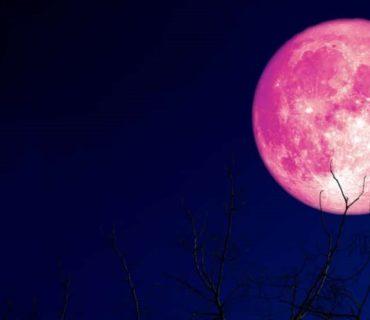 strawberry moon night sky